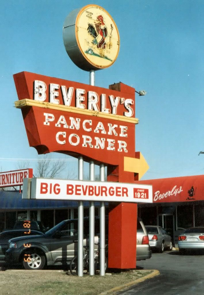 Beverly S Pancake Corner Chicken In The Rough Oklahoma History Eerie Places Old Signs