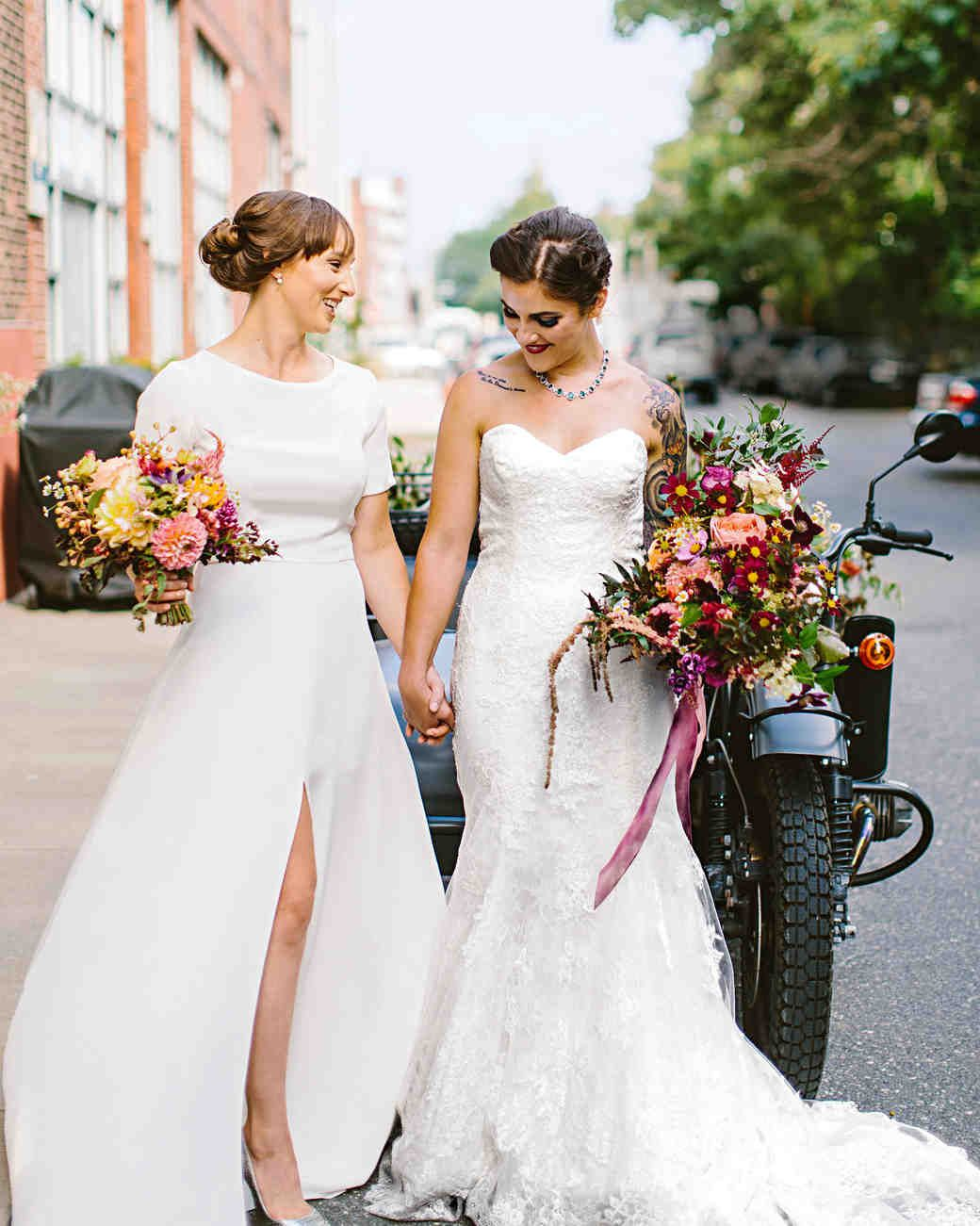The Best Hairstyles For Every Wedding Dress Neckline Wedding Dress Necklines Lesbian Wedding Necklines For Dresses