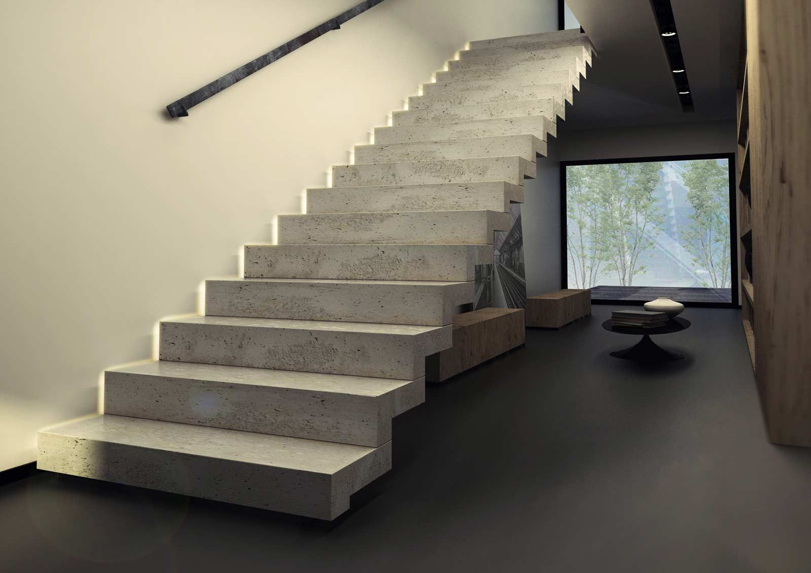 escalier beton postthumb beton m bel concrete design. Black Bedroom Furniture Sets. Home Design Ideas