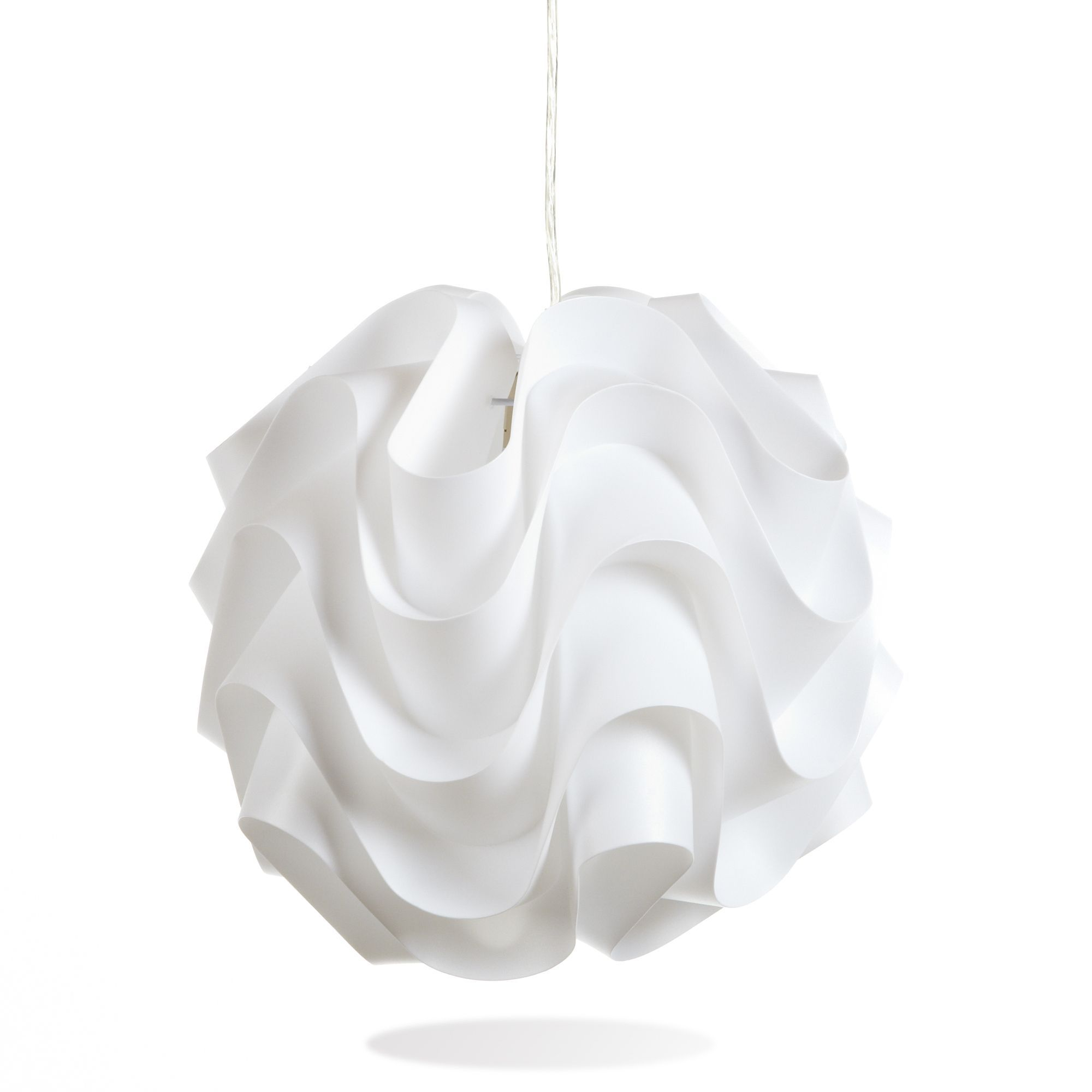 Suspension Luminaire Alinea Happy Light Suspension Blanche Opaque D33cm Luminaire