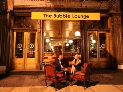 The Bubble Lounge. Champagne and desserts? Location: 228 W. Broadway at White St.