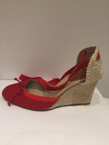 magasin en ligne c5253 f9fb2 Sandales compensées CHRISTIAN LOUBOUTIN Rouge, bordeaux ...