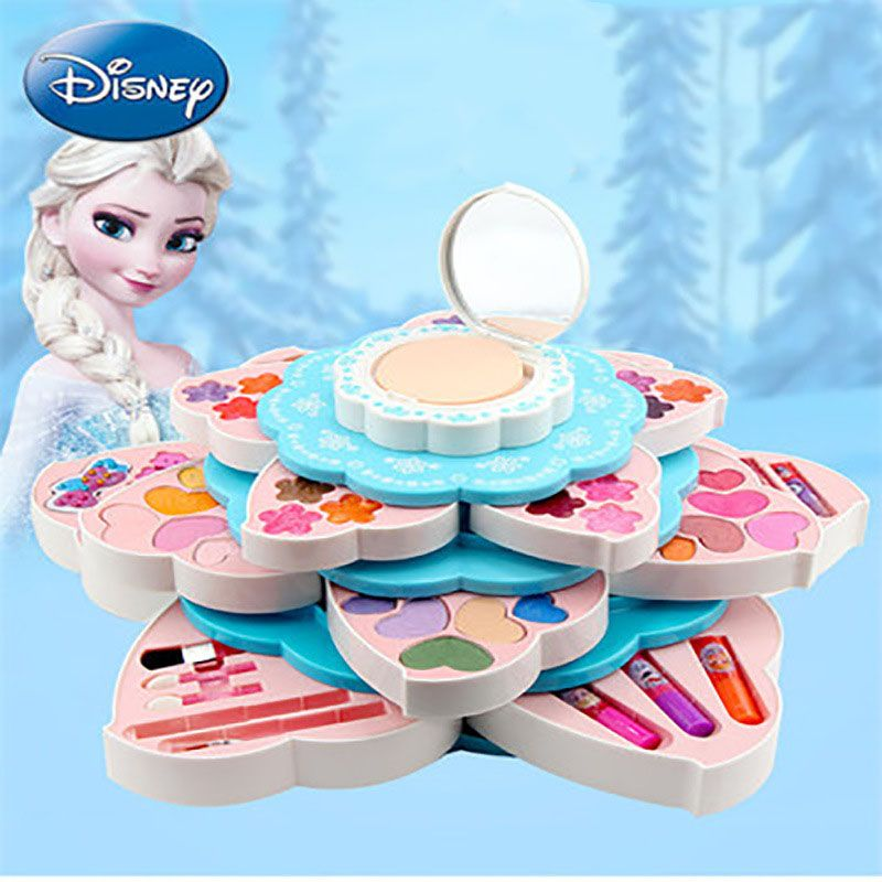 New Disney Frozen Child Princess Flower Blossoming Multi Functional Beauty Box Girls Play Children S Makeup Birthday Gifts Kids Birthday Gifts Toys For Girls Christmas Gifts For Kids