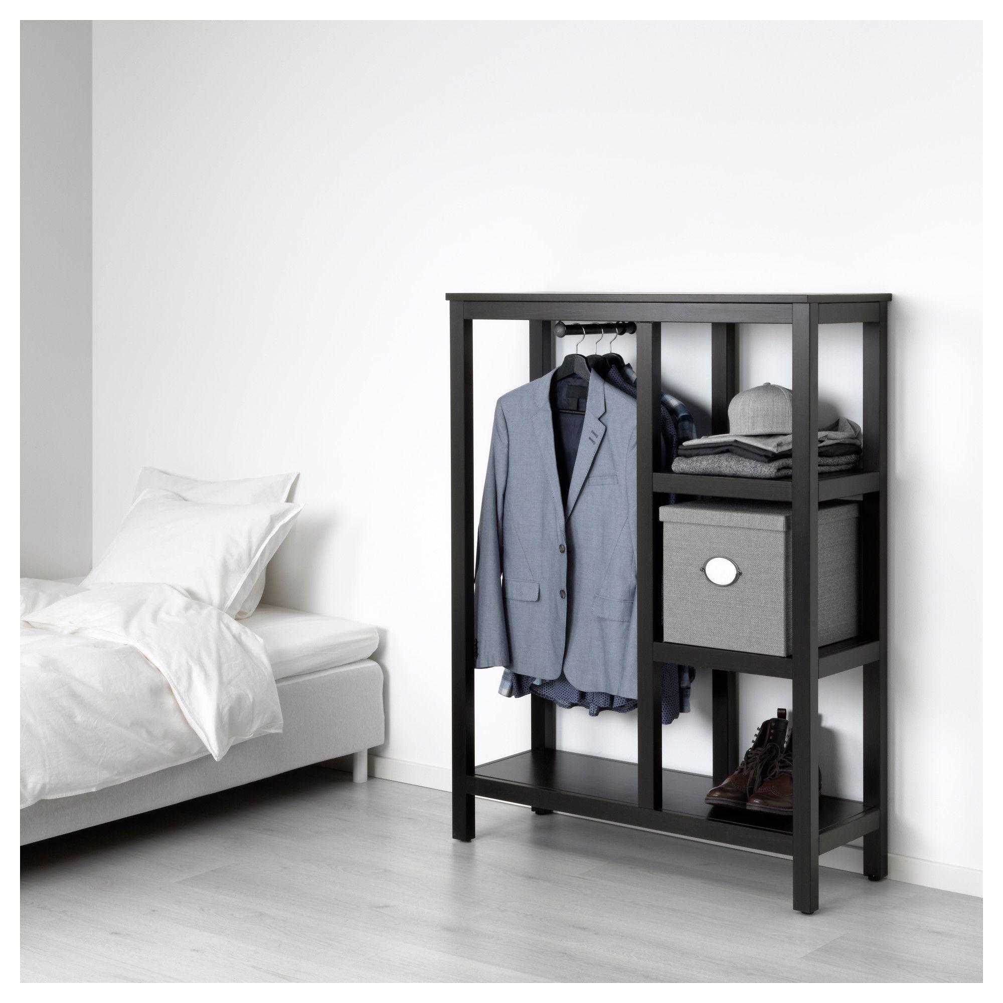 Bedbank Hemnes Te Koop.Ikea Hemnes Open Wardrobe Black Brown Open Wardrobe Hemnes