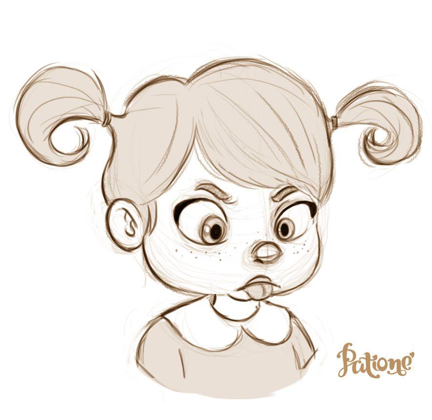 Baby #baby #girl #sketch #art #cute #kawaii #angry #sad #sadness