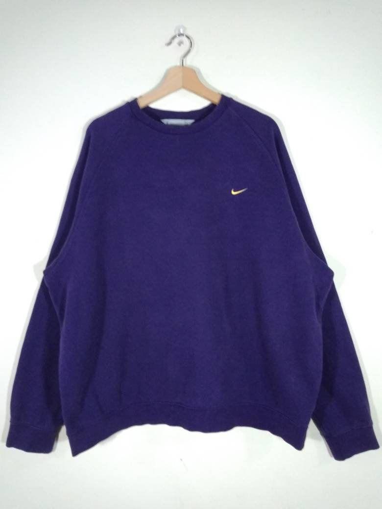 Nike Embroidered Logo Crewneck Purple Oversized Sweatshirt Sweater Jumper Cardigan Size Xxl Oversized Sweatshirt Sweatshirt Sweater Sweatshirts [ 1040 x 780 Pixel ]