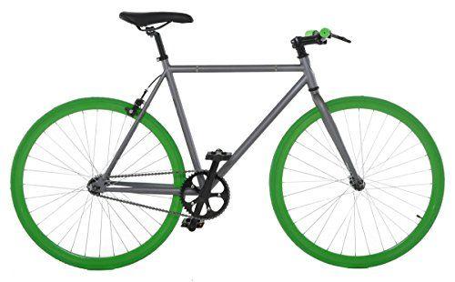 On Sale: http://fixiecycles.com/shop/bikes-bikes/vilano-fixed-gear-bike-fixie-single-speed-road-bike-greygreen-58cmlarge/  -  Vilano Fixed Gear Bike Fixie Single Speed Road Bike, Grey/Green, 58cm/Large #fixie
