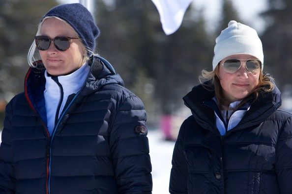 Princess Mette-Marit of Norway and Princess Martha Louise of Norway attend the 50th Ridderrenn skiing competition for the visually impaired on April 13, 2013 in Beitostoelen, Norway.