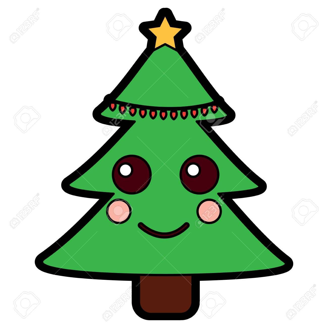 Cartoon Christmas Tree Designs Vector Christmas Tree Design Cartoon Christmas Tree Christmas Graphic Design