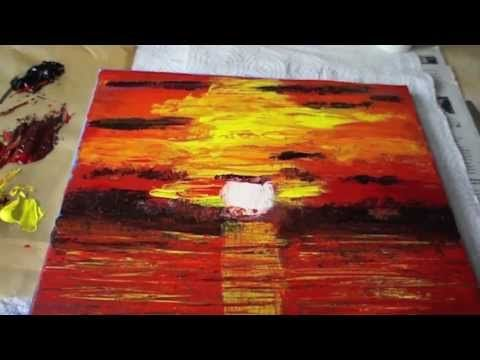Abstract Acrylic Painting Demo Abstrakte Malerei Melodioso Ii