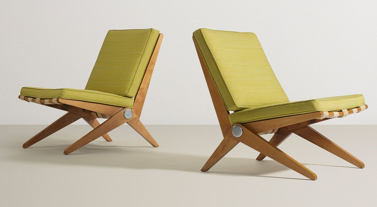 Pierre jeanneret scissor chairs mobiliario pinterest pierre
