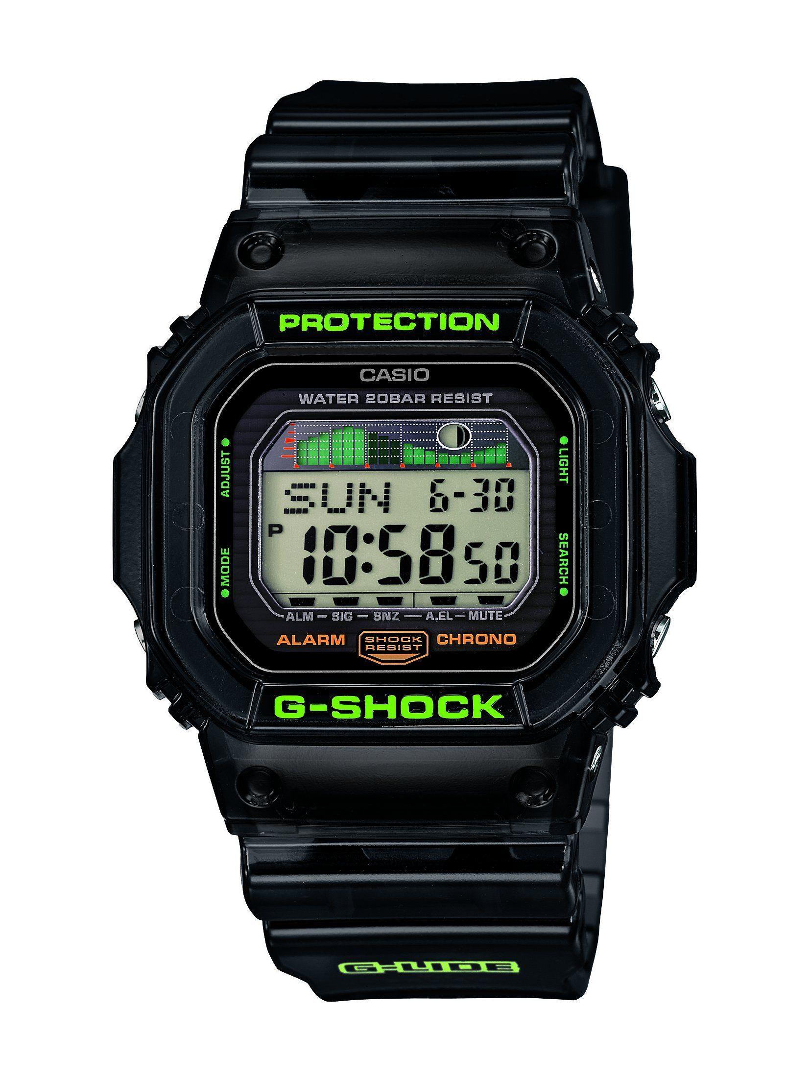 Casio Glx 5600c 1er G Shock Montre Homme Quartz Digital Cadran Noir Bracelet Resine Noir Amazon Fr Mont Casio G Shock Casio Watch G Shock Watches