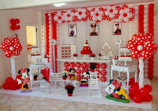 Fiestas Pretty red and white Flowers Evento Pinterest Fiestas - imagenes de decoracion con globos