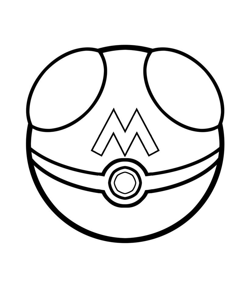 printable pokeball coloring pages - photo#4