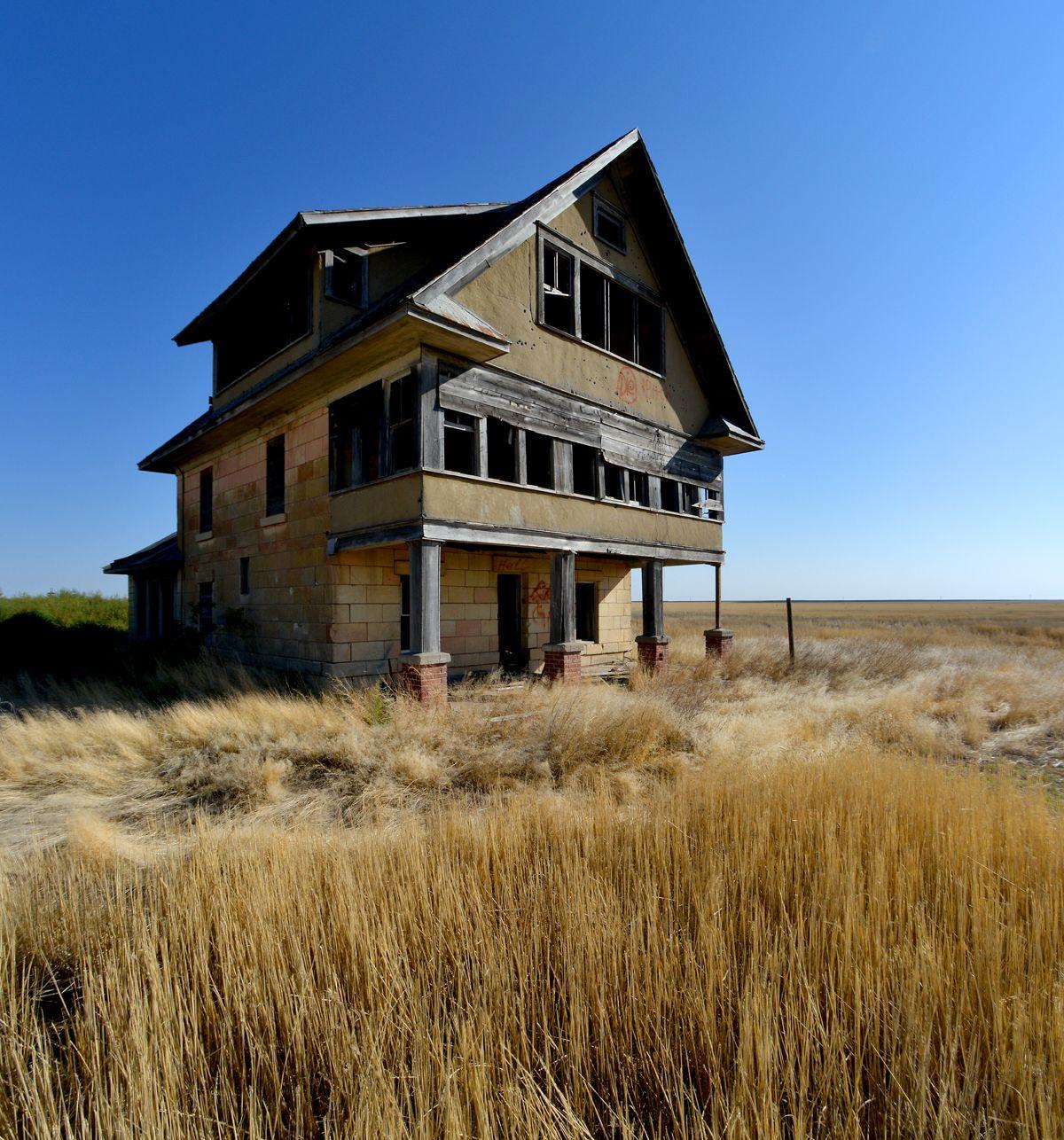 Ranch House In Logan County, Kansas.