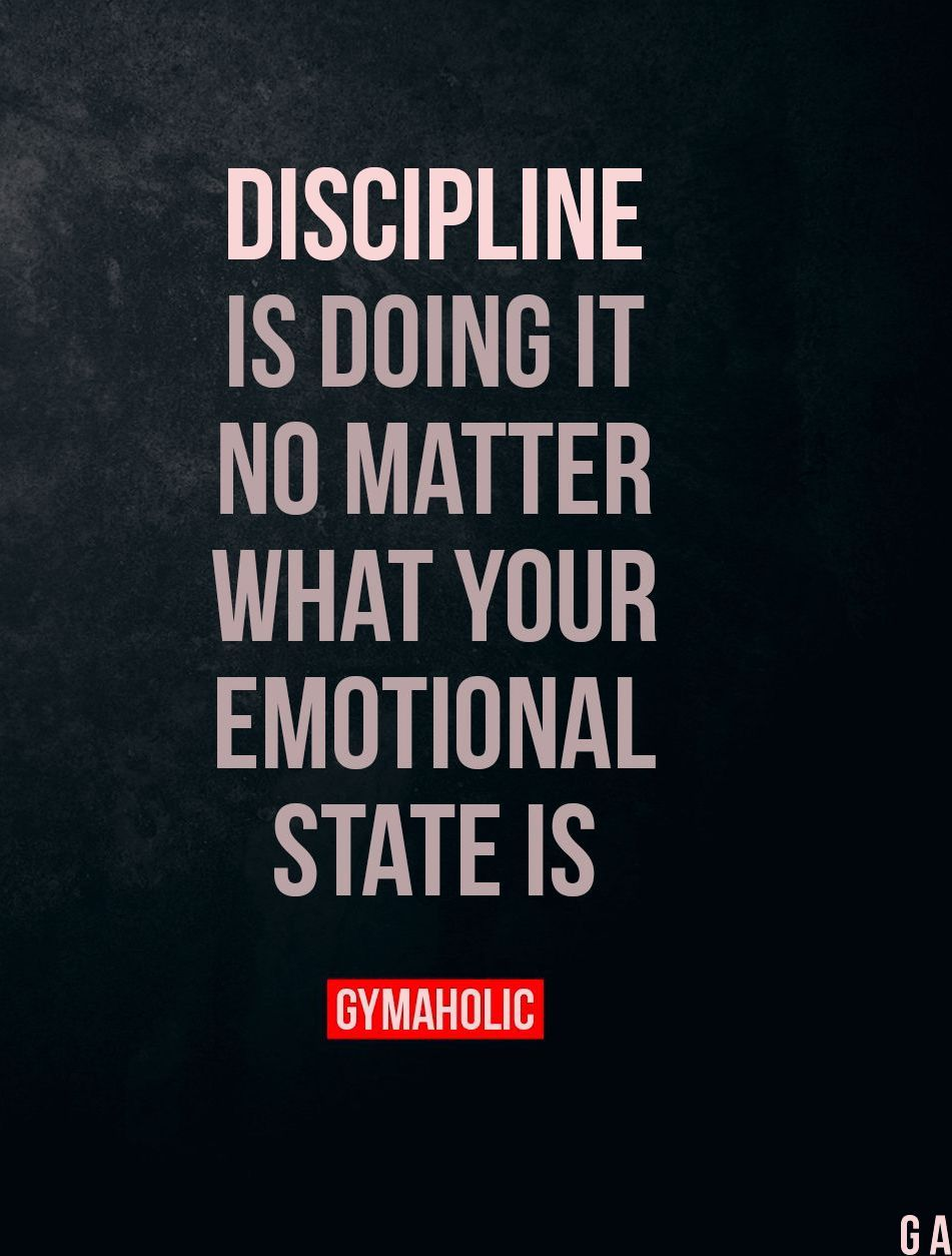 Discipline is doing it, no matter what your emotional state is. - Fitness motivation - #Discipline #...