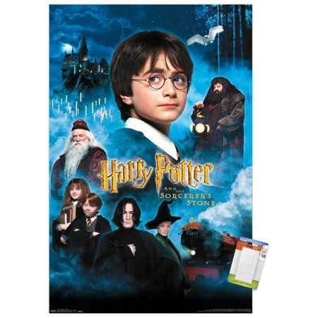 Harry Potter and the Sorcerer's Stone - Candles One Sheet Size: 22.375 inch x 34 inch, Multicolor