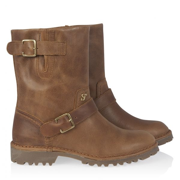 Motorboot Ankle Boots Cognac