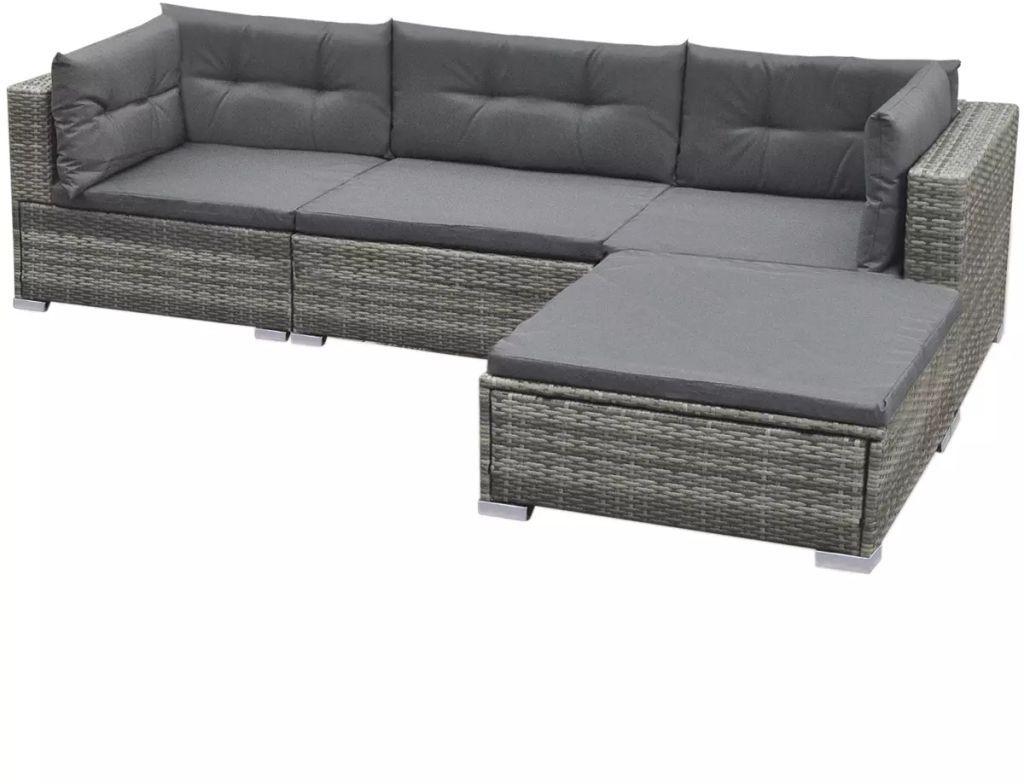 Outdoor Garden Lounge Set Sofa Coffee Table Rattan Patio Furniture Grey H4home Furnitures Rattan Patio Furniture Rattan Garden Furniture Sets Patio Furniture [ 784 x 1024 Pixel ]