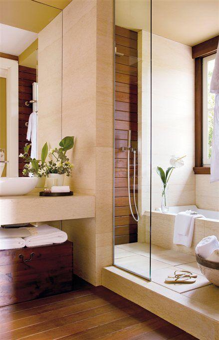 Small Bathroom Remodeling Guide (30 Pics Small bathroom, Shower - k che arbeitsplatte glas