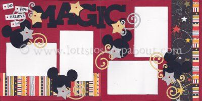 Do You Believe In Magic Scrapbook Page Kit