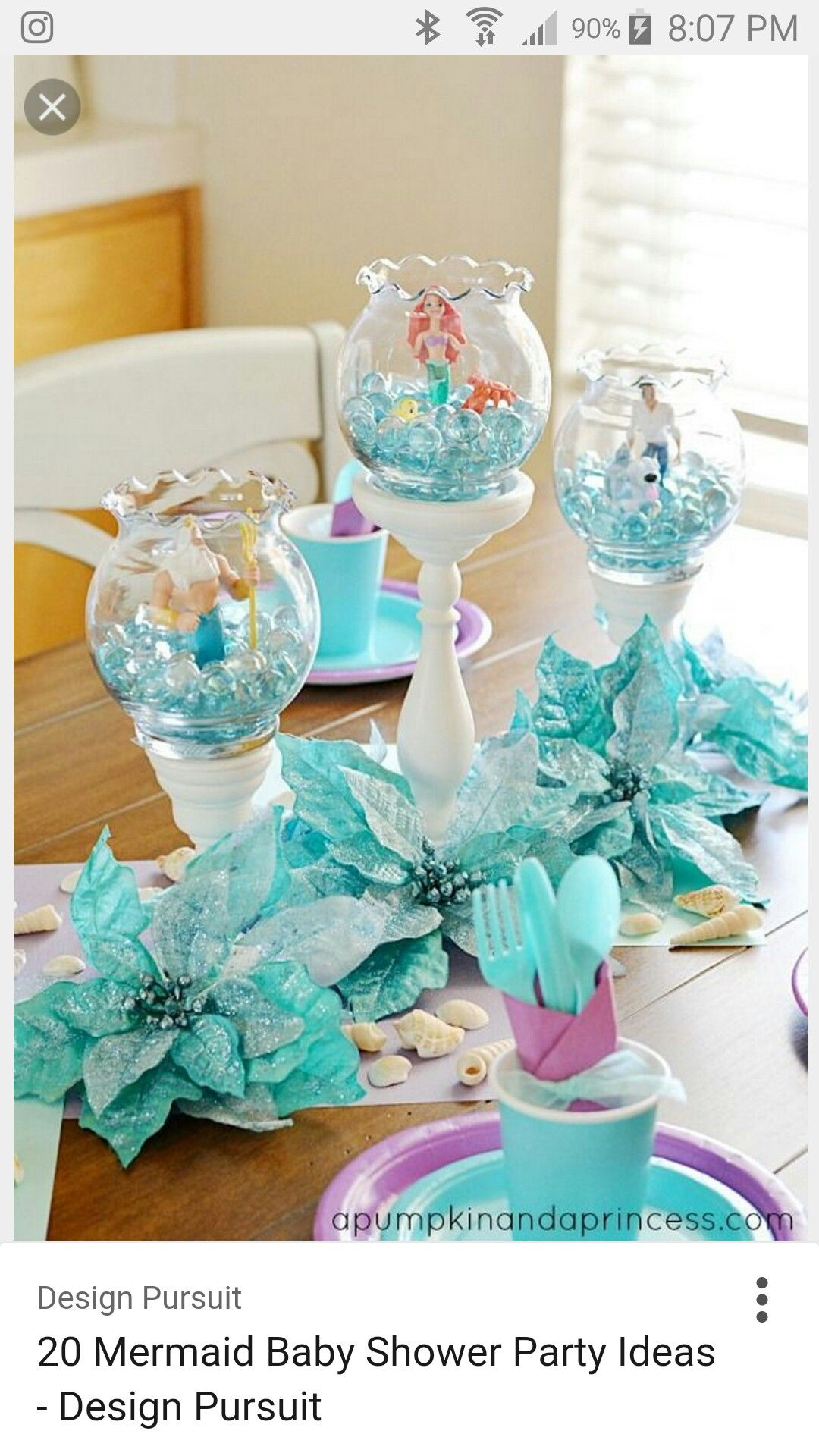 Mermaid Baby Shower Theme Baby Shower Party In 2018 Pinterest