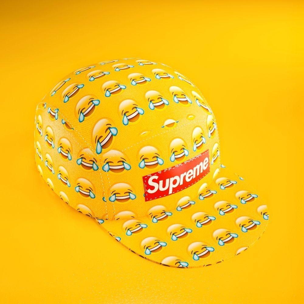 Supreme Emoji Hat | Motion Design
