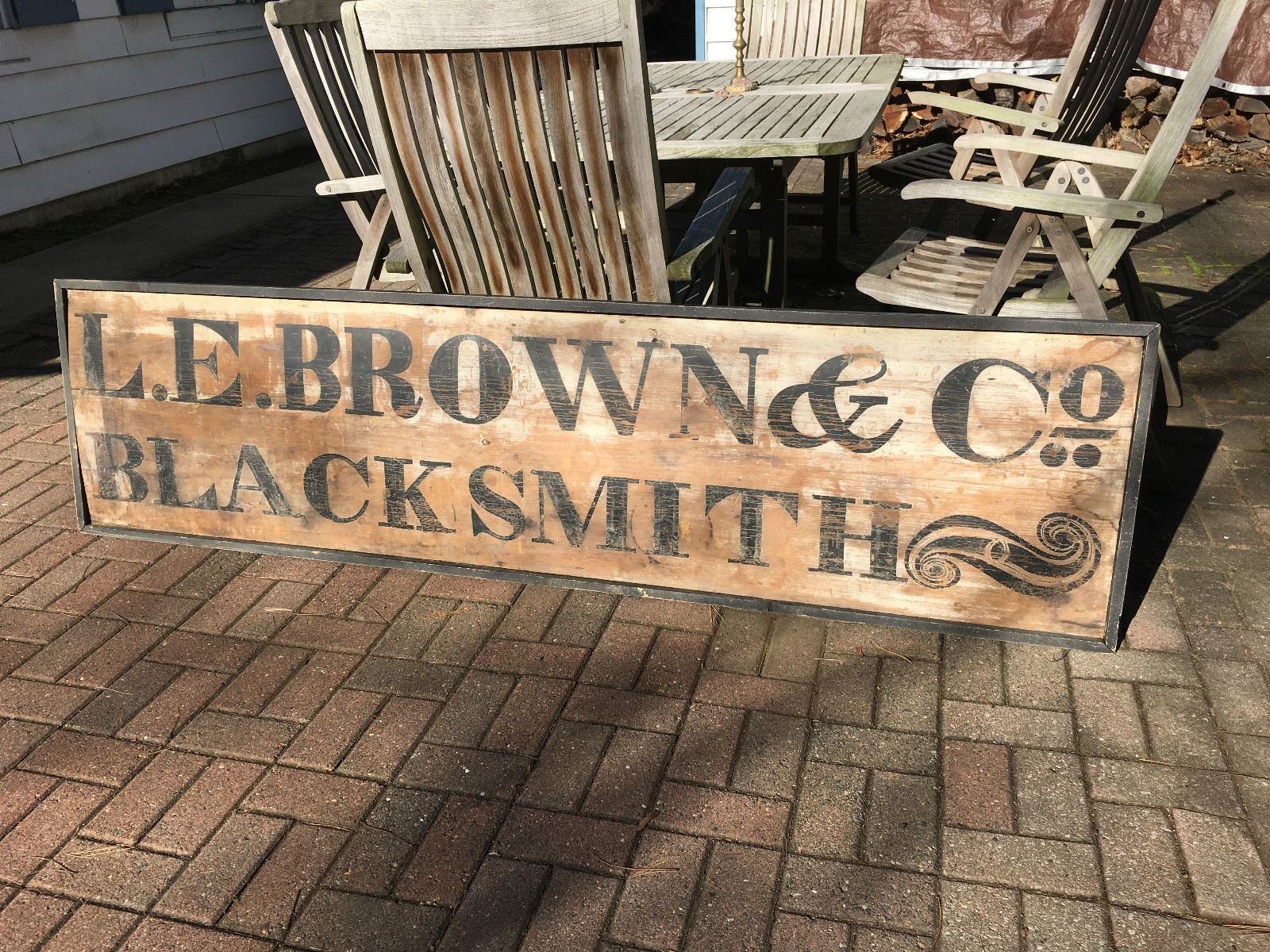 Trade Sign Rare Old Primitive Wooden