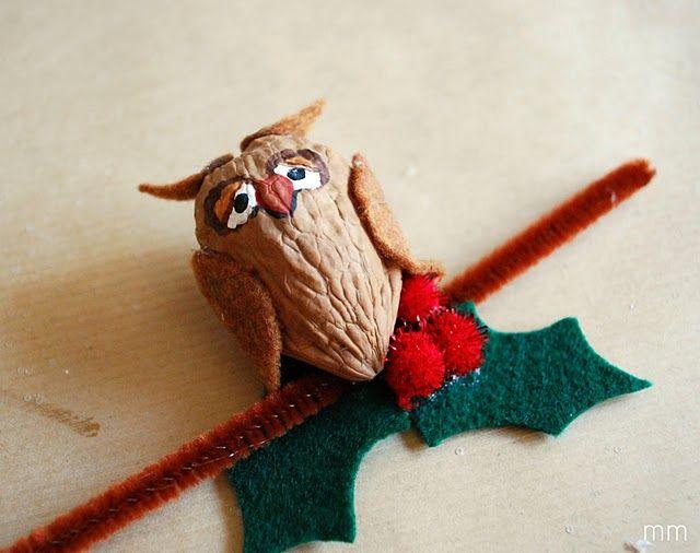 Walnut owl bricolage hiboux pinterest chouette no l et bricolage - Bricolage jardinerie grenoble ...