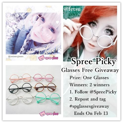 join this giveaway ^^ follow, repost and tag! #spreepicky #spreepickygiveaway #spglassesgiveaway