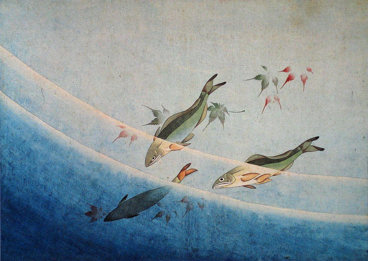 前北斎卍筆 肉筆画帖 紙本十図一帖1834 39年 葛飾北斎 日本画 日本美術 浮世絵