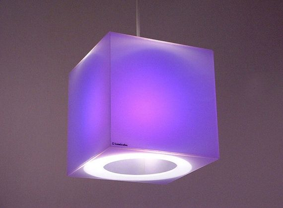 Purple Cube Lampshade Translucent Perspex Cube By Lumicube Lampe