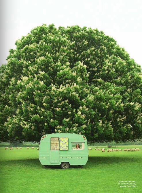Camper Quest Casas rodantes clásicas, Caravanas, Verde
