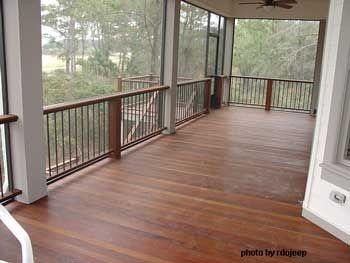 Brazilian Walnut Porch Flooring Pretty Railing