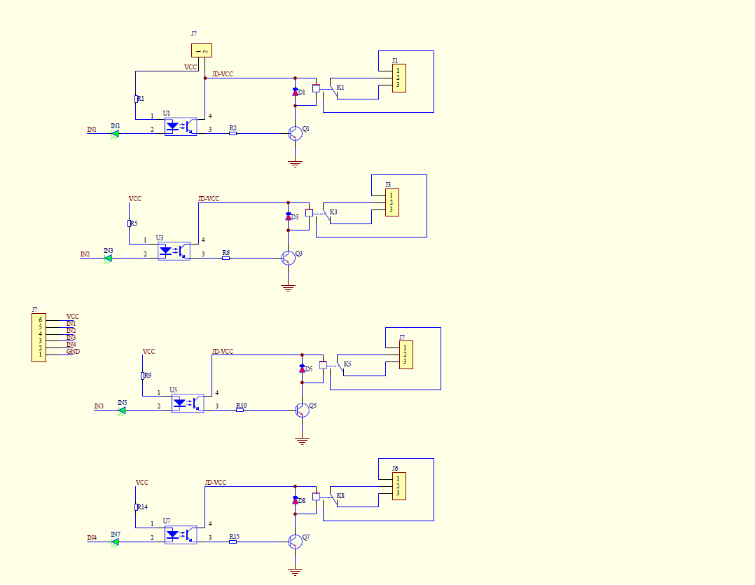 small resolution of 4 relay module schematics
