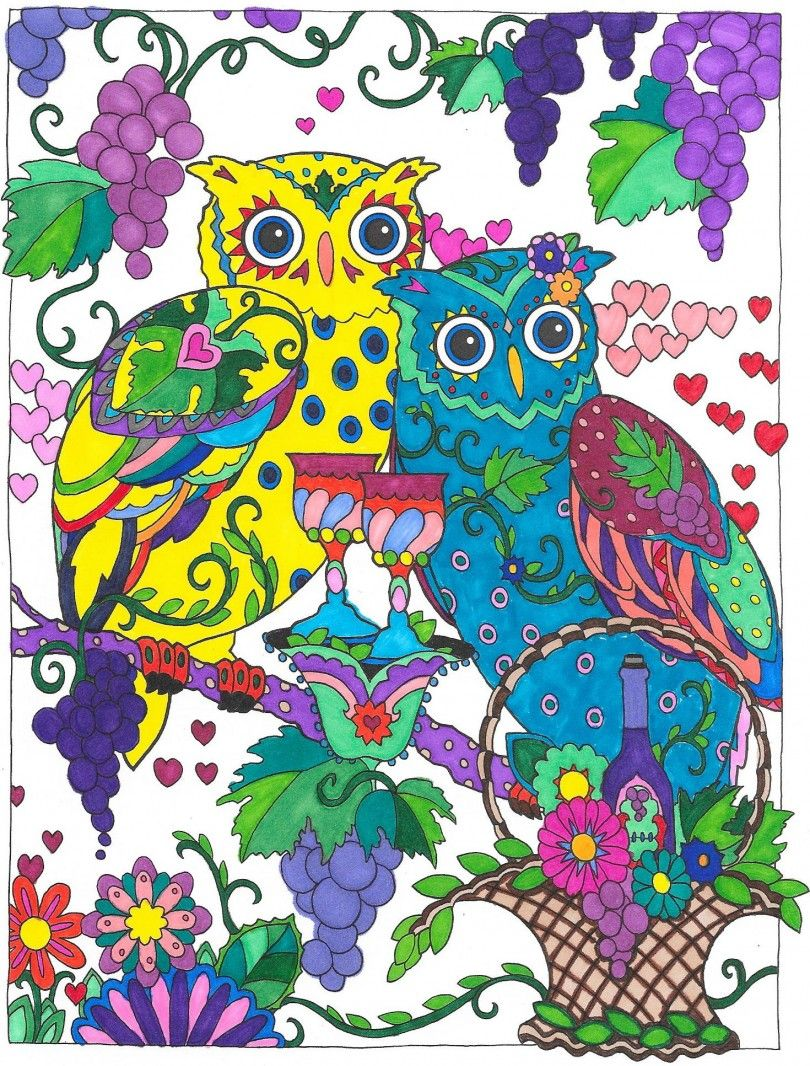 1st Place 12 - 17: Domenique from Creative Haven Owls Coloring Book ...