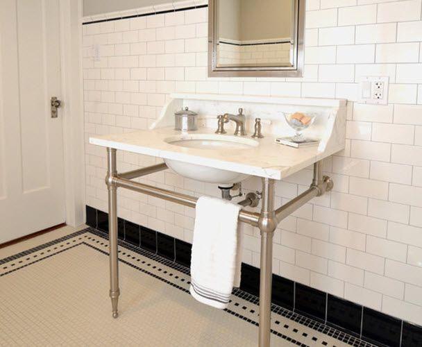 Black And White Vintage Bathroom Tile 31 Retro Black White