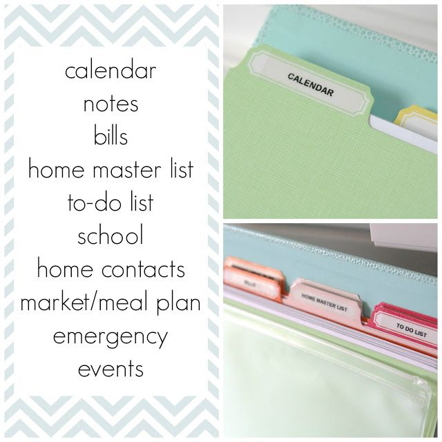 simply organized: Home Management Binder - Little Tweaks ...