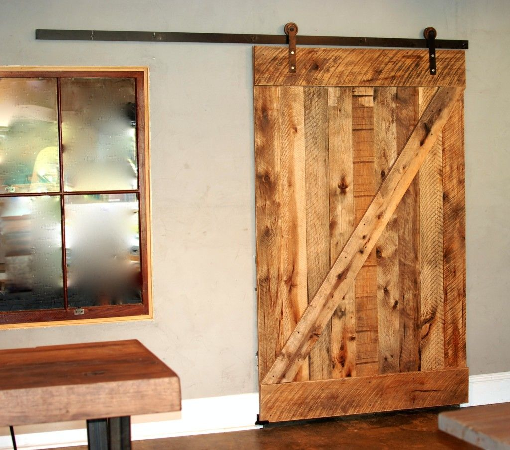 Hickory Barn Door