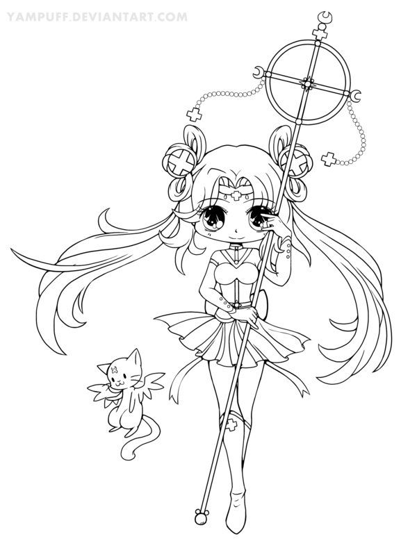 Sailor Irumei Lineart by YamPuff on DeviantArt Coloring