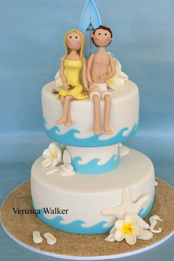 Beach lovers Cake by Verusca.deviantart.com on @deviantART