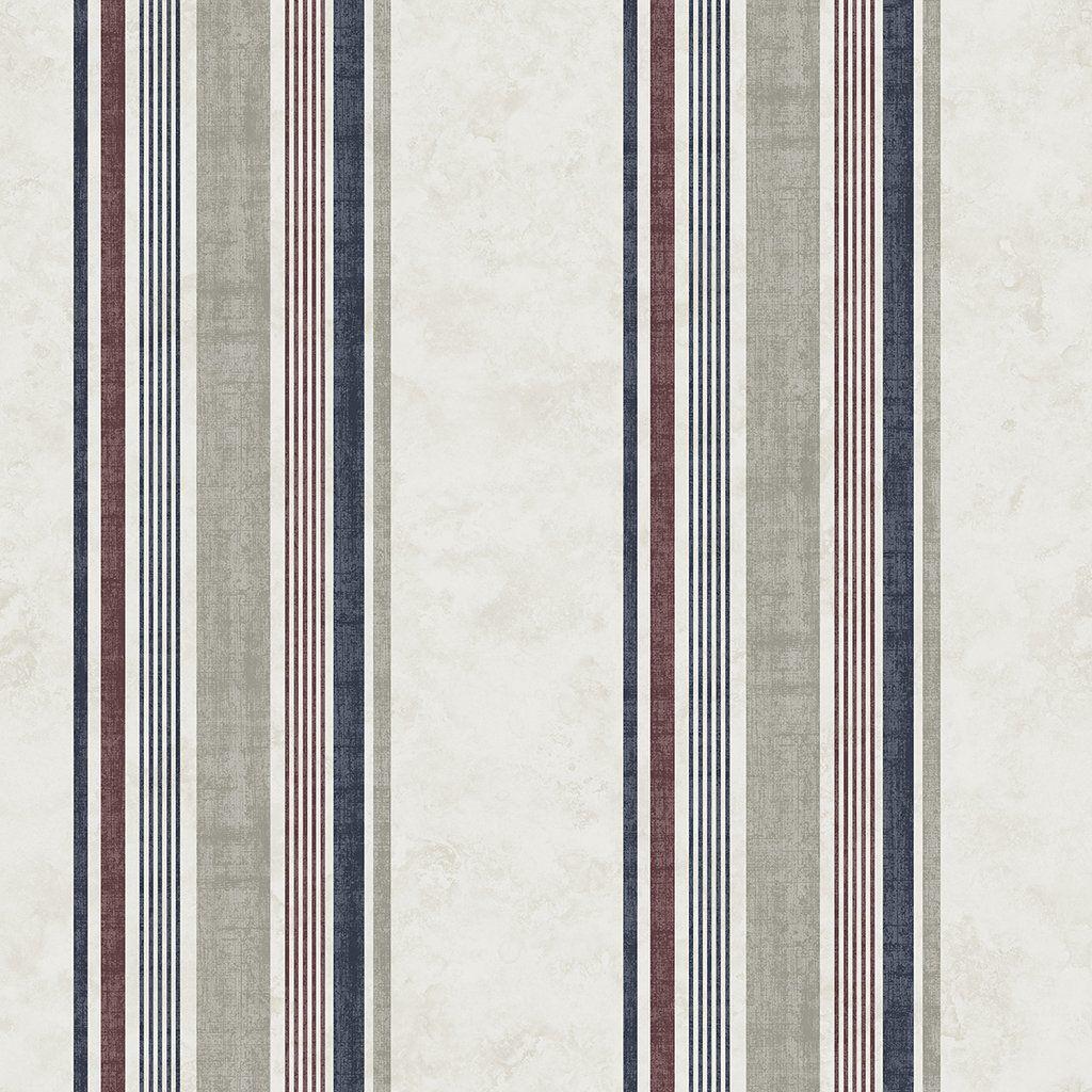 Hamilton Red Stripe Wallpaper Striped Wallpaper Wallpaper