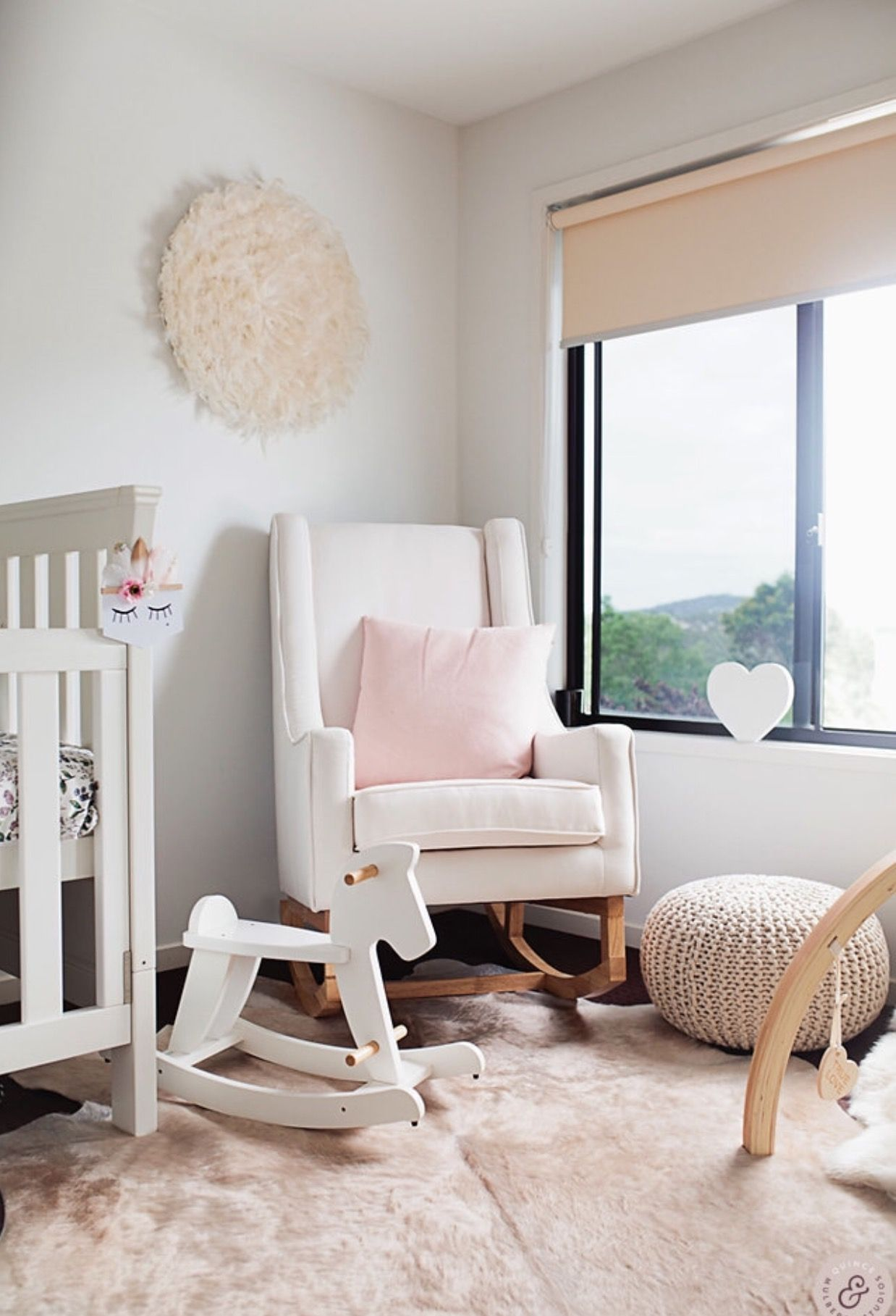Our London rocking chair in bone/natural hobbeaustralia
