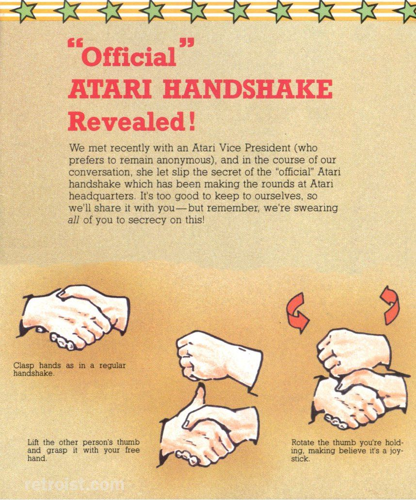 Do you know the Official Atari Handshake? Atari, Retro
