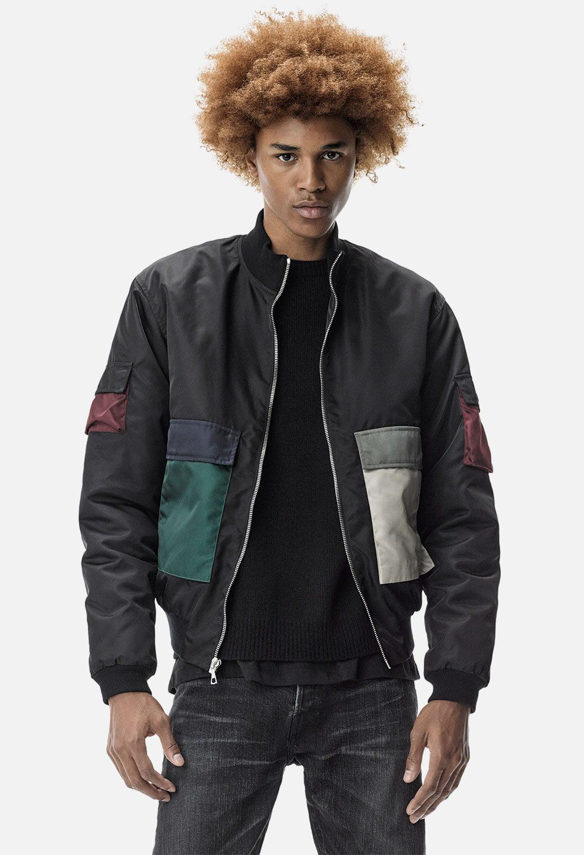 Mock Flight Jacket / Black Jackets, Best mens fashion, Black