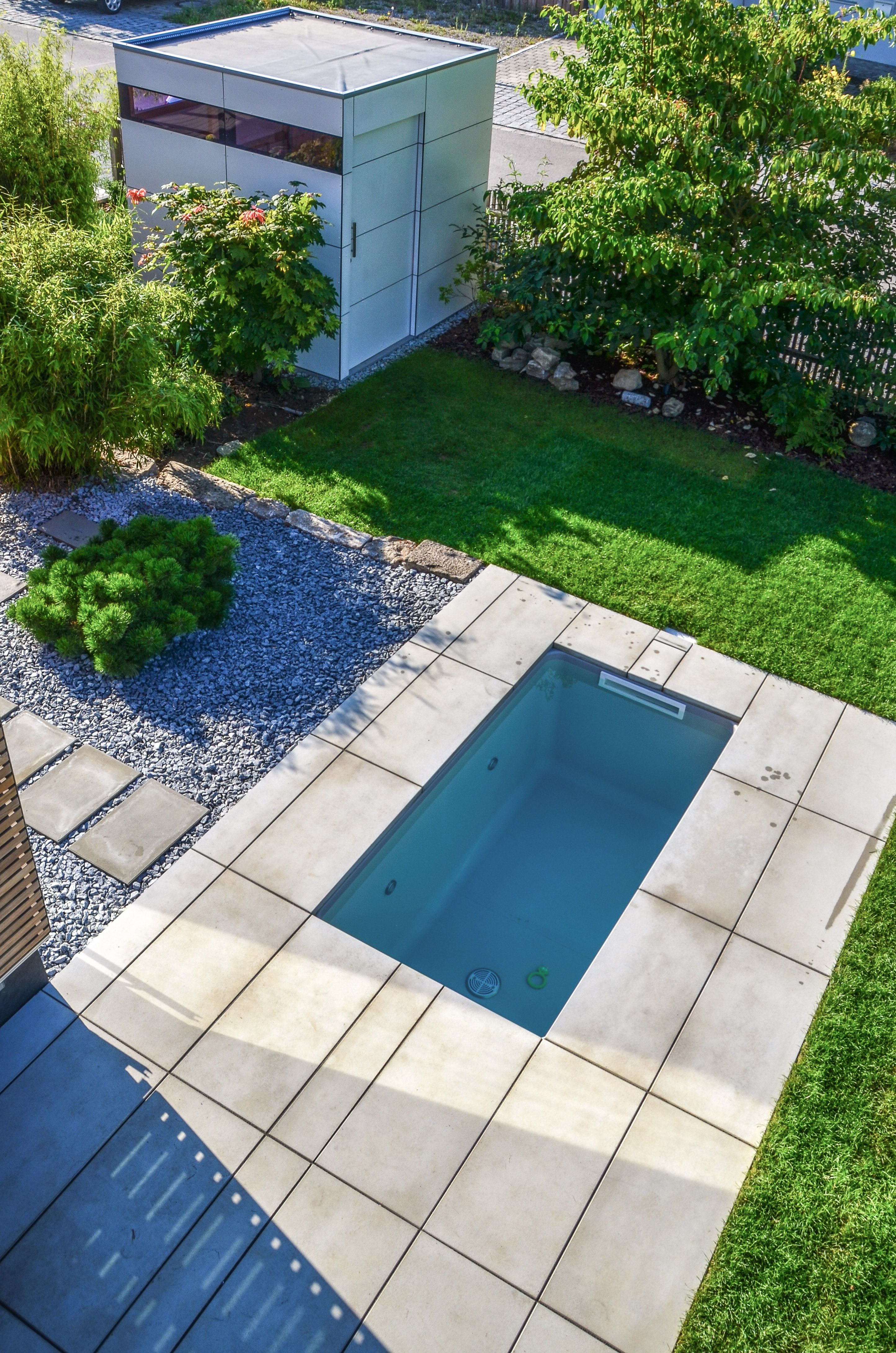 Tauchbecken Für Den Garten Design At Garten Backyard Plunge Pool