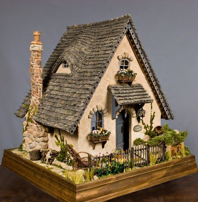 Storybook cottage dollhouse would make a great gingerbread Build storybook