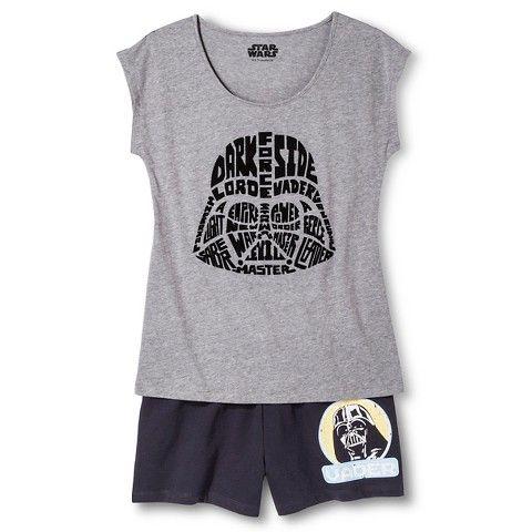 6cb6d32ad6 Disney Women s Star Wars Darth Vader Pajama Set- Medium Heather Gray Dark  Gray
