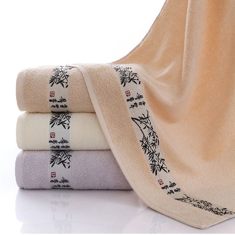 Soft Absorbent Bamboo Bath Towel 70x140cm Bamboo Fiber Bath Sheet