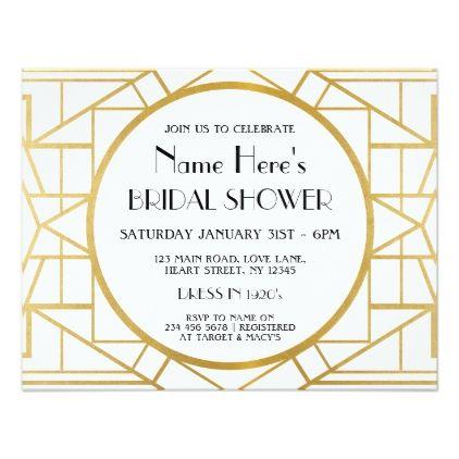 1920s art deco gatsby party bridal shower invite gatsby party 1920s art deco gatsby party bridal shower invite filmwisefo Gallery